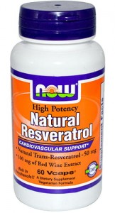 Natural Resveratrol, NOW, 60 kaps.